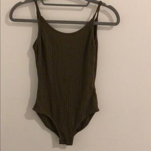 out from under olive open back bodysuit